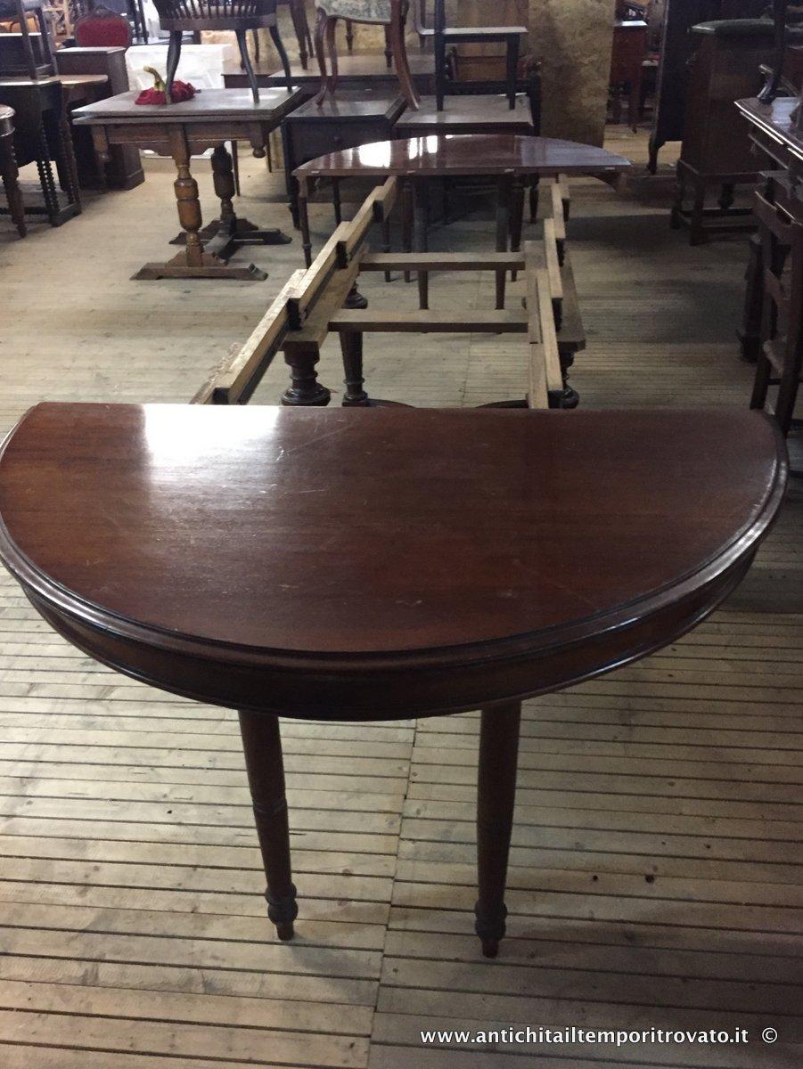 Antichita Il Tempo Ritrovato Antiquariato E Restauro Mobili Antichi Tavoli Allungabili Antico Tavolo Ovale Allungabile Fino A M 3 30 Tavolo Francese Apribile Con 4 Tavole